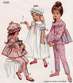 Patrones vintage infantiles