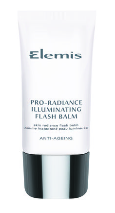 """Elemis Pro-Radiance Illuminating Flash Balm  Introducing an exciting new generation """"hybrid moisturiser"""" whose instant skin-flattering qualities are as compelling as its ability to hydrate the skin.  Formulated with a powerful vitamin complex that helps protect against moisture loss, whilst exquisite purple orchid, noni and acai help defend against the early signs of skin ageing."""