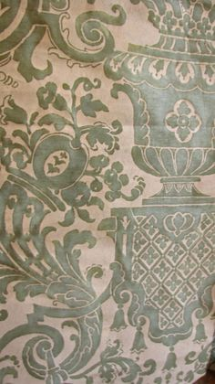 Carnavalet in Green Jade I Fortuny fabric