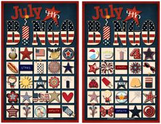 Pink Polka Dot Creations:  Free Printable- July 4th Bingo with calling cards