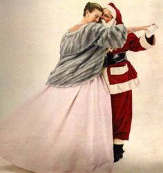 Dior Christmas Gowns Advertisement, Vogue, December 1954