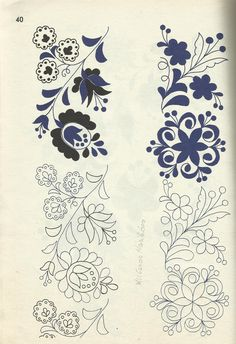 Hungarian Embroidery, Embroidery Works, Couture Embroidery, Embroidery Motifs, Hand Embroidery Designs, Diy Embroidery, Cross Stitch Embroidery, Machine Embroidery, Quilling Patterns