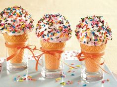 Ice Cream Cone Cakes | A creative twist on the traditional birthday cake. Kids will love eating their cake in a cone instead of on a plate!  #foodholiday