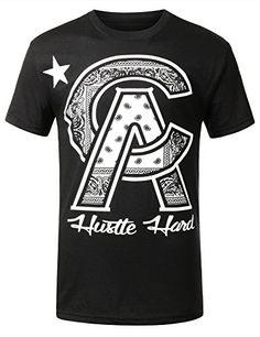 URBANCREWS Mens Hipster Hip Hop Cali Hustle Hard t- shirt  - that should be mine!