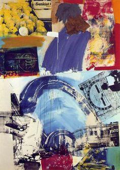 robert rauschenberg - harbor, oil and silkscreen ink on canvas (museum ludwig, cologne). Robert Rauschenberg, Tachisme, Jasper Johns, Roy Lichtenstein, Franz Kline, Art Pop, Andy Warhol, Abstract Expressionism, Abstract Art