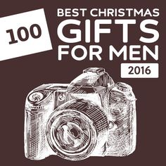100 Best Christmas Gifts for Men of 2016- this is a great list with unique gift…