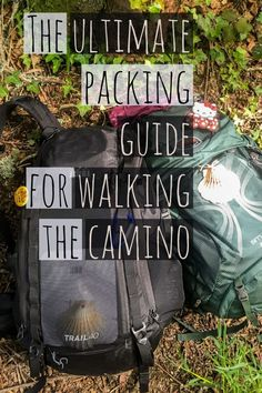 How to pack light for walking the camino! #camino #wayofstjames #packingtips