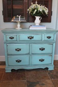 All Mimsy: Turquoise Dresser