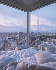 Visit Japan: Talk about a room with a view! The 'The Prince Gallery Tokyo Kio.- Visit Japan: Talk about a room with a view! The 'The Prince Gallery Tokyo Kioicho' hotel off… City Aesthetic, Aesthetic Bedroom, Travel Aesthetic, Blue Aesthetic, Aesthetic Images, Apartment View, Dream Apartment, York Apartment, Nyc Apartment Luxury