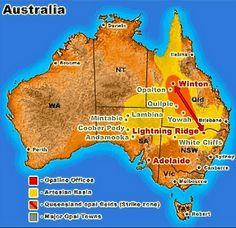 map opal mining ,map of opal mines, opal mines, opal mining
