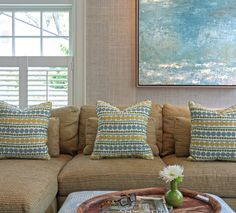 contemporary impressionist-style painting -- House of Turquoise: Fisher Hart Photography (Carol Flanagan Interior Design)
