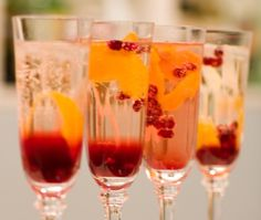 Sparkling Champagne Cocktail. Such a simple but festive-looking drink for the holidays.