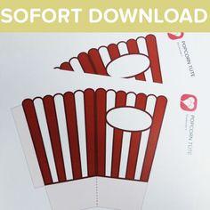 Popcorn Tüten als Sofort-Download  Eine Popcorn-Tüte darf bei der Movie-Night nicht fehlen! Mit unserer   Vorlage kannst Du Dir super schnell eine eigene Popcorn Tüte basteln -   einfach ausdrucken, basteln & leckere Snacks wie im Kino genießen!  Viele weitere tolle Ideen und Vorlagen findest Du auf blog.balloonas.com    #balloonas #vorlage #downlaod #movie #kino #party #fest #geburtstag #einladung #popcorn #candy #diy #fun