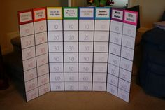 "Classical Conversations game board. Perfect for Jeopardy or ""Are You Smarter Than a Memory Master"". I made this with the ability to change headings. The kids love it!"