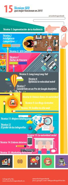 15 técnicas #SEO que mejor funcionan en 2015 #Infografía en español #CommunityManager