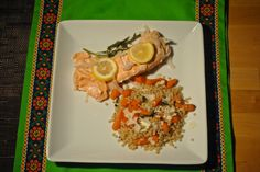 Slow-Cooked Salmon with Carrots & Couscous