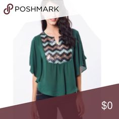 🆕listing!!Dolman Sleeve Sparkle Top Hunter green top with Dolman Sleeves.  Pretty sequined front. Umgee Tops