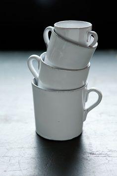 こんなカップで朝コーヒー飲んだら、一日がハッピーに過ごせそう。  リアン・カップ|Astier de Villatte アスティエ・ド・ヴィラット|オルネ ド フォイユ