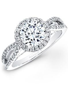 Natalie K L'Amour Collection - NK26237WE-W Engagement Ring - The Knot