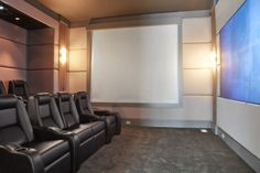 Movie Theater in our 9000 Sq. Ft. Home.  HD, Soundproof, Seats 8  www.timdavishamptons.com