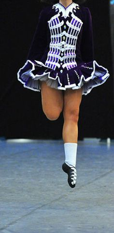 Great pattern on this *Irish Dance Solo Dress Costume*