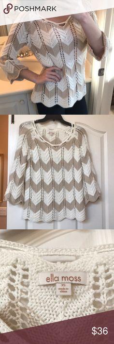 🎉HOST PICK🎉Ella Moss Sweater Light cream and tan sweater by Ella Moss Ella Moss Sweaters