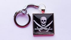 Pirate Keychain by GeekyLime on Etsy, £7.00
