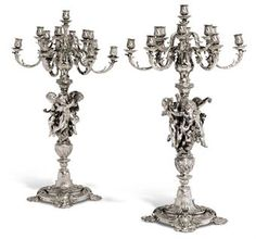 AN IMPORTANT AND MASSIVE PAIR OF FRENCH SILVER THIRTEEN-LIGHT CANDELABRA EXHIBITED AT THE PARIS INTERNATIONAL EXHIBITION MARK OF ODIOT, PARIS, CIRCA 1878 Price realised GBP 217,250 USD 316,533 Estimate GBP 100,000 - GBP 150,000 (USD 144,500 - USD 216,750)