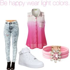 light colors by sraley on Polyvore featuring polyvore fashion style NIKE SHOUROUK