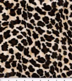 Velboa Faux Fur Fabric Cheetah