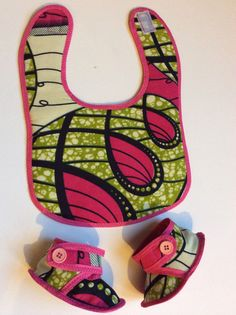 Ankara baby bib set   Baby shower gift African Baby by SaloneStarr