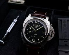 European Watch Company: Panerai Luminor 1950 8 Day GMT ...Manual Wind Movement...