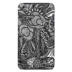 A unique Gardens #7 hand drawn art iPod case Barely There iPod Covers