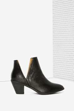 If the Shoe Slits Glitter Ankle Boot - Shoes