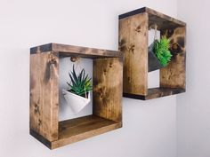 Plant Shelf - Plant Wall Shelf - Wall Shelf - Shelf - Home Decor - Modern Home  Decor - Squares - Square Shelf - Hanging Shelf - Wall Decor 7a2c2779fd95