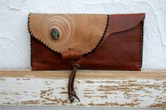 Handcrafted leather clutch bag by EticaLeathercraft on Etsy, €55.00