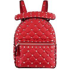 Valentino Garavani Mini Crinkled Leather Spike Backpack (£1 39ba51a934fce