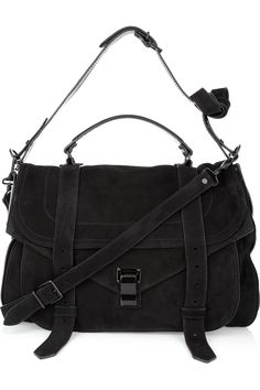My dream handbag. Will somebody buy this for me, please? Proenza Schouler PS1 Extra Large Suede Satchel from net-a-porter.com. Please & thank you!