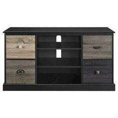 montgomery tv console white with multicolored door fronts room joy - Colored Tv Stands