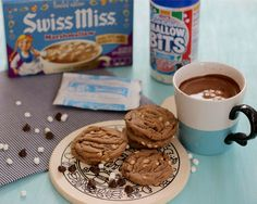 Whipple Scrumptious: Swiss Miss Hot Chocolate Chip Cookies Swiss Miss, Cookie Time, How To Make Cookies, Cookie Bars, No Bake Desserts, Chocolate Chip Cookies, Sweet Recipes, Hot Chocolate, Cookie Recipes