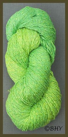 Lime Cotton Rayon Twist Yarn