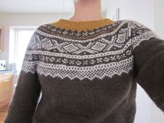 Bilderesultat for marius genser i gult Fair Isle Knitting, Knitting Charts, Girls Sweaters, Knitted Shawls, Beading Patterns, Ravelry, Needlework, Knit Crochet, What To Wear