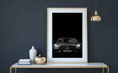 Mercedes AMG, GT S Coupe, 2017, car print, car poster, exclusive car, luxury car, sports car, car decor, car photography, black car,mercedes