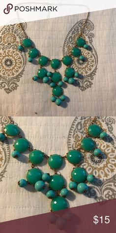 Turquoise statement necklace Adjustable turquoise statement necklace perfect piece Jewelry Necklaces