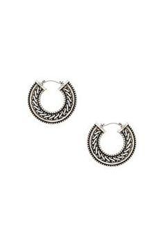 Ethnic Detail Hoop Earrings