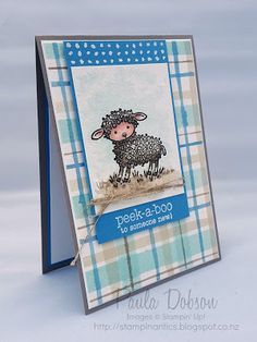 Paula Dobson -Stampinantics, Easter Lamb for a new baby! Click on the picture to see more of Paula's projects #globaldesignproject #newbaby #stampinup Baby Shower Cards, Baby Cards, Easter Lamb, Animal Cards, Stamping Up, New Baby Products, Paper Crafts, Card Ideas, Projects