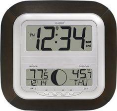 La Crosse Technology WS-8418U-IT Atomic Digital Wall Clock with Moon Phase $23.99 at Target