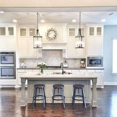 Diy kitchen renovation - Top Built In Microwave Cabinet Inspirations For Beautiful Kitchen – Diy kitchen renovation Cuisines Diy, Cuisines Design, Grey Kitchen Cabinets, Kitchen Cabinet Design, Kitchen Island, White Cabinets, Kitchen Counters, Kitchen Flooring, Home Decor Kitchen