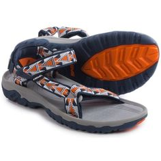 Teva Hurricane XLT Sport Sandals (For Men) in Mosaic Orange Sandalias Teva, Sport Sandals, Running Shoes, Mosaic, Fashion Accessories, Orange, Celebrities, Sneakers, Sports