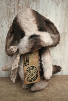 Artist Bear handmade Puppy Esme by bearwithmee on Etsy,